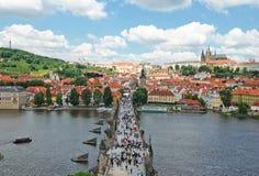 Prague, passerelle de Charles Photographie stock libre de droits