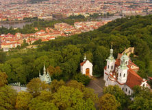 Prague from Petrin Royalty Free Stock Photo