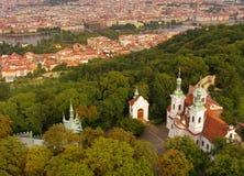 Prague from Petrin Royalty Free Stock Photo