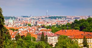 Prague From Petrin Hill Royalty Free Stock Images