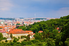 Prague from Petrin Hill Royalty Free Stock Image