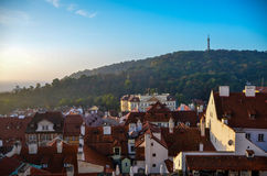 Prague Petrin Hill Royalty Free Stock Photos