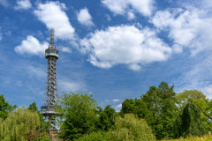 Prague Petrin Hill Tower and Park Stock Photography