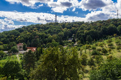 Prague Petrin Hill Tower and Park Stock Images