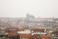 Prague. Photo of Prague's buildings roofs Royalty Free Stock Image