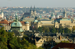 Prague - plan view Royalty Free Stock Photography