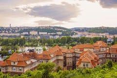 Prague - Podoli. Prague - Vltava River, Podoli, Zlichov and Smichov Quarters Stock Photography