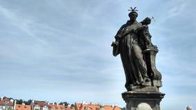 Prague, pont de Charles Photographie stock