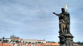 Prague, pont de Charles Photos stock