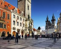 Prague - Popular Travel Destination - Old Town Square Stock Image