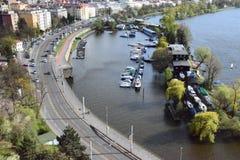 Prague port arkivbilder