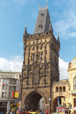 Prague. Powder Tower. Stock Photos