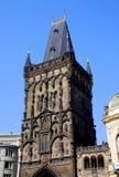 Prague, préposé du service tchèque : Porte de poudre Photo stock