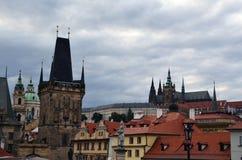 Prague Prague slott (Mala Strana och Hradcany) Arkivbild