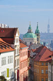 Prague Praha. Buildings in center of Praga city Stock Images