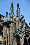 Prague Praha / Detail of Castle. Detail of Church Castle in center of Praha Stock Photography