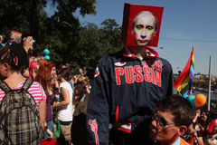 Prague Pride Gay Festival Arkivbilder