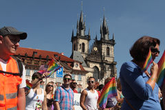 Prague Pride Gay Festival Stock Images