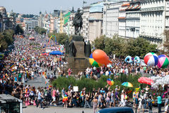Prague Pride Parade Stock Photography