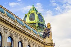 Prague Pub Royaltyfri Fotografi