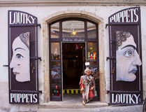 Prague, puppet shop Royalty Free Stock Photography