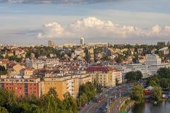 Prague, quart de Podoli images stock