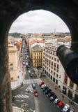 Prague, République Tchèque - 18 août 2017 : Vue supérieure de rue de centre historique de Prague de tour de poudre Photos libres de droits