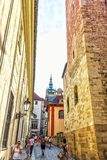 Prague, République Tchèque - Ausgust 17, 2018 : Château de Prague l étroit photos libres de droits