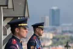 Prague, République Tchèque - 24 avril 2016 : Château présidentiel Gua Photo libre de droits