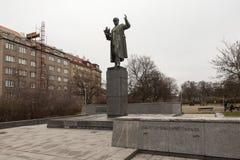 PRAGUE, RÉPUBLIQUE TCHÈQUE - 20 DÉCEMBRE 2015 : Photo de monument à Ivan Konev Photographie stock libre de droits