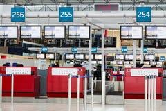 PRAGUE, RÉPUBLIQUE TCHÈQUE - 10 février : Hall de départs de Vaclav Havel Airport Prague en février 10,2016 Photos libres de droits
