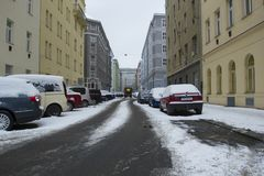 Prague, République Tchèque - 10 janvier 2017 jour habituel dans la ville Photo libre de droits
