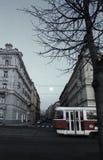 Prague, République Tchèque - 27 janvier 2014 : Soirée de Prague Photos stock
