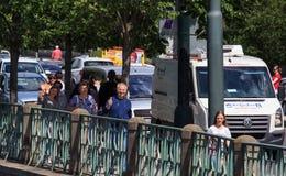 PRAGUE, RÉPUBLIQUE TCHÈQUE - 17 MAI 2017 : Prague, République Tchèque L'itinéraire de touristes populaire à Praha, promenade par Images libres de droits