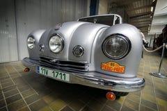 PRAGUE, RÉPUBLIQUE TCHÈQUE - MAI 2017 : Tatra 87, 1947 ans, dans le musée technique national à Prague, republik tchèque Photo stock