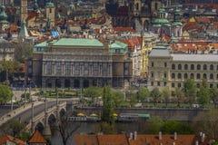 Prague ?r en av den mest h?rliga staden f?r historia, kultur och sk?nhet arkivbilder