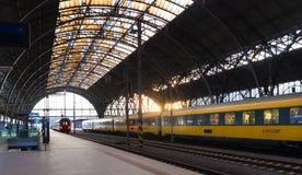 Prague railway station Stock Photos