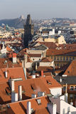 Prague red roofs Royalty Free Stock Photo