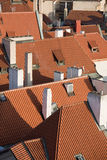 Prague red roofs Royalty Free Stock Images