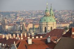 Prague red rooftops Stock Photo