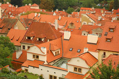 Prague red tile roofs Stock Photography