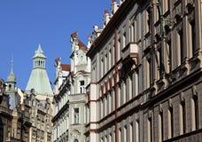 Prague - Renaissance an secession buildings Royalty Free Stock Images