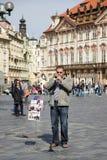 PRAGUE, REPUBLIC/EUROPE TCHÈQUE - 24 SEPTEMBRE : Musique en direct dans images stock