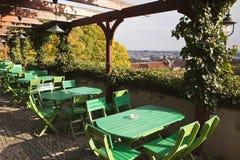 Prague restaurang och tabeller Royaltyfria Bilder