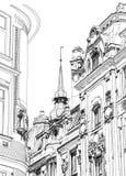 Prague - retrait architectural Image libre de droits