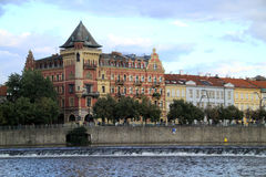 Prague is rich with beautiful buildings Stock Images