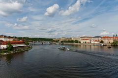 Prague with the river Royalty Free Stock Images