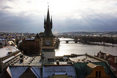 Prague river Royalty Free Stock Photography