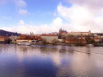 Prague River boat Royalty Free Stock Images