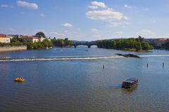 Prague, river Moldau Stock Image